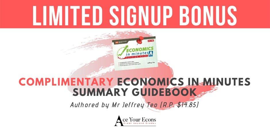 JC1 Economics Tuition Signup bonus