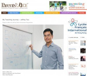JC1 Economics Tutor featured in PAG