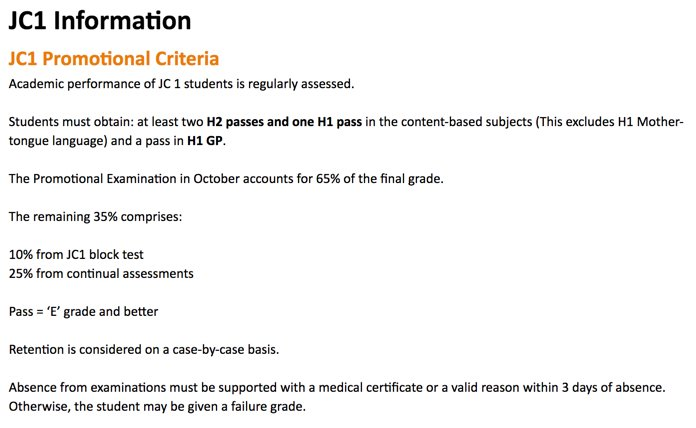 NYJC Promotion Criteria