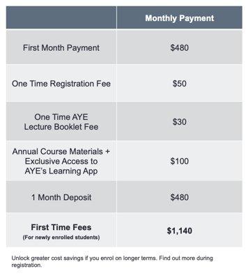 AYE Investment Fee