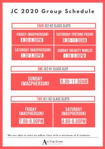 JC tuition schedule