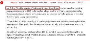 JC1 Econs Tutor Newspaper Contribution